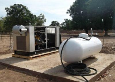 Unité pilote de production de l'électricité à partir de l'hydrogène naturel de Bourakébougou
